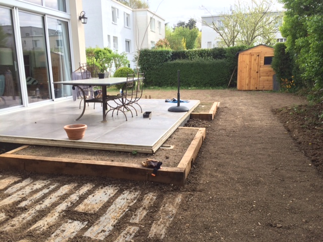 Chantier jardin les jardiniers v lo for Jardins de jardiniers