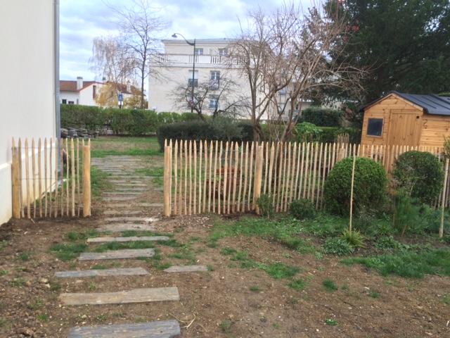 les jardiniers à vélo paris ile de france aménagement entretien terrasse jardin plessis portail ganivelle bois extérieur